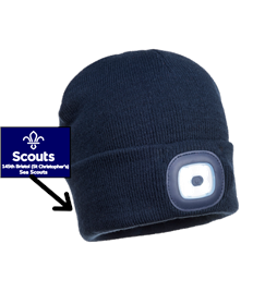 145th Scouts Group Junior LED beanie